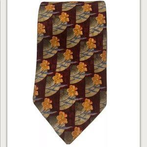 ERMENEGILDO ZEGNA Gold Disegno Esclusivo  Silk Tie
